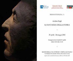 """La mostra di Andrea Fogli che inaugura la rassegna """"Resistenza/1"""", ideata dallo stesso artista"""