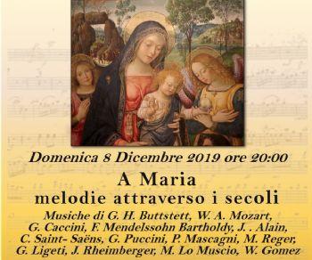 La Camera Musicale Romana dedica il concerto alla figura di Maria