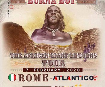 Concerti: Il gigante Burna Boy sbarca per la prima volta in Italia