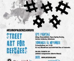 Live painting e musica per promuovere la campagna di INTERSOS per i diritti dei rifugiati in Europa