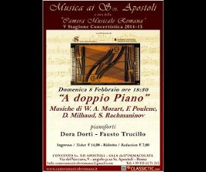 Musiche di W. A. Mozart, F. Poulenc, D. Milhaud, S. Rachmaninov