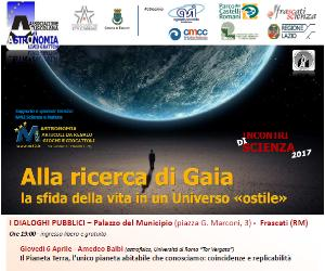 Serate: Incontri di scienza 2017 - Alla ricerca di Gaia
