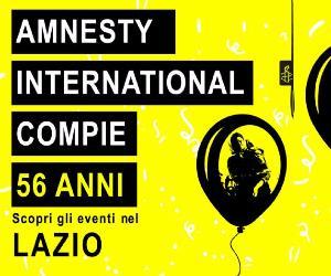 Attività: 56° anniversario Amnesty nel Lazio
