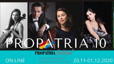 Appuntamenti virtuali - Il Festival Internazionale Propatria 2020. Giovani Talenti Romeni