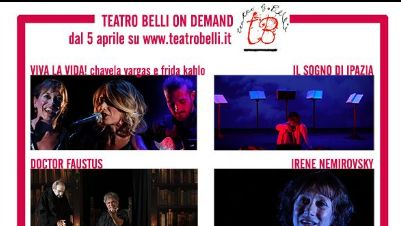 Appuntamenti virtuali - Teatro Belli, la stagione 2020/2021 on demand