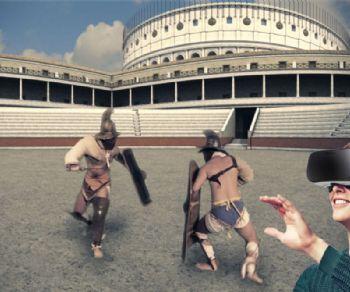 Visita guidata con visore della realtà virtuale