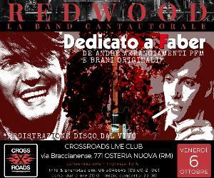 Concerti: REDWOOD la band cantautorale - Dedicato a Faber