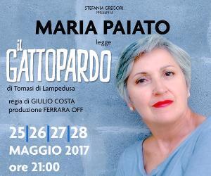 Spettacoli - Maria Paiato legge Il Gattopardo
