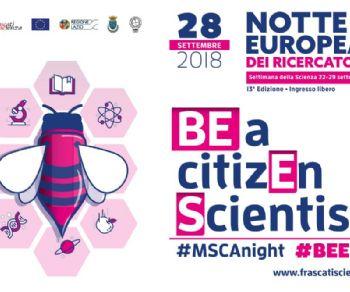 Altri eventi: 28 settembre: la Notte Europea dei Ricercatori di Frascati Scienza #BEES