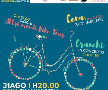 Dall'Ex Lavanderia parte il Decrescita Bike Tour 2018