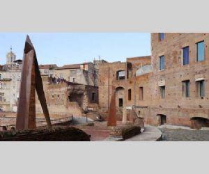 Venticinque sculture tra le antiche mura della via Biberatica e le tabernae dei Mercati di Traiano
