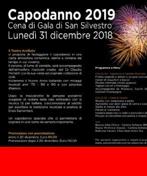 Capodanno - Aspettando Capodanno 2019 al Teatro Arciliuto di Roma