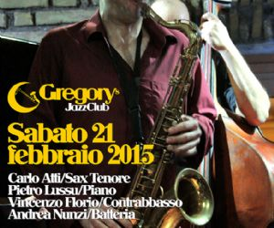 Il National Treasure del jazz italiano al Gregory's di Roma Sabato 21 febbraio