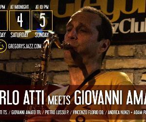 Doppio live del Sabato al Gregory's Jazz Club