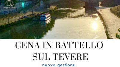 Visite guidate - Cena in battello sul Tevere nel centro storico di Roma