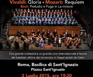 Un Coro di fama internazionale, una grande Orchestra e un'acclamata solista in concerto per aiutare i bambini del Nepal