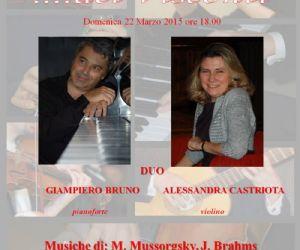 Concerto del duo Alessandra Castriota e Giampiero Bruno (violino e pianoforte)