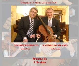 Il duo Sandro De Blasio - Giampiero Bruno eseguirà due sonate di J. Brahms
