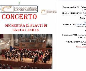 Concerti: Concerto dell'Orchestra di Flauti del Conservatorio di Santa Cecilia in Roma