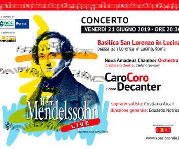 Un concerto unico interamente dedicato al celebre compositore tedesco Felix Mendelssohn