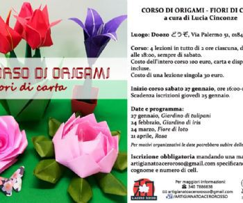 Attività - Corso di origami - Fiori di carta