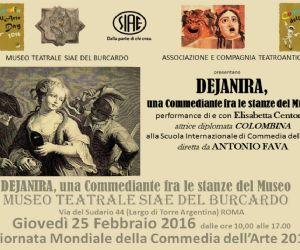 Una commediante fra le stanze del Museo Teatrale SIAE del Burcardo