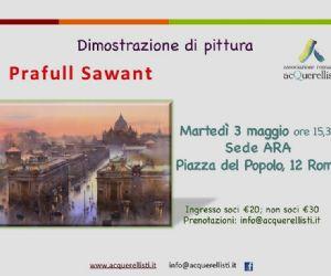 Dimostrazione di pittura all'Associazione Romana Acquerellisti