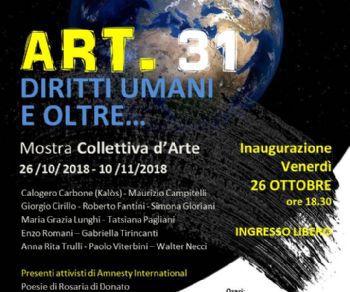 Mostre: ART.31: diritti umani ed oltre