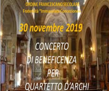 Concerti - Concerto per quartetto d'archi il 30 novembre 2019