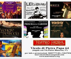 Spettacoli - Settembre al Teatro L'Aura