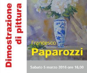 Francesco Paparozzi dipinge a piazza del Popolo