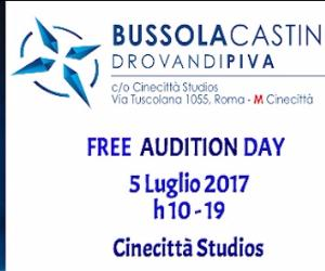 Bandi e concorsi - Free Audition Day c/o Cinecittà Studios