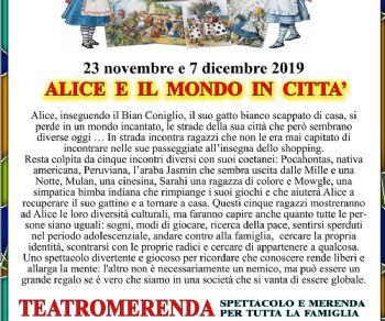 Spettacoli - ALICE E IL MONDO IN CITTA'