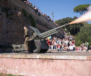 Bambini - Il Gianicolo di Garibaldi e lo sparo del cannone di mezzogiorno
