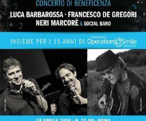 Con Francesco De Gregori, Luca Barbarossa e Neri Marcore