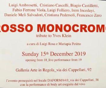 Gallerie - Rosso Monocromo, Tribute a Yves Klein