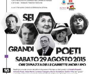 Quarto evento del progetto Morlupo Città della Poesia 2015