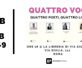 Libri - Quattro Voci - quattro poeti, quattro libri