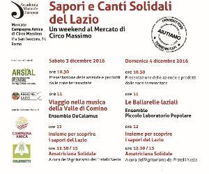 Sagre e degustazioni: Sapori e Canti Solidali del Lazio
