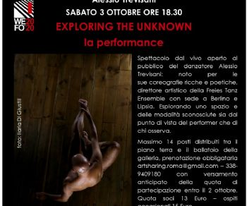 Spettacoli - Alessio Trevisani 'exploring the unknown - la performance'