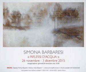 Mostra personale di Simona Barbaresi