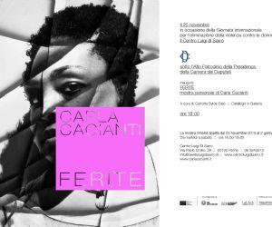 In occasione della giornata internazionale contro la violenza sulle donne si inaugura la mostra personale di Carla Cacianti