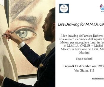 Gallerie: Live drawing for M.M.I.A. Onlus