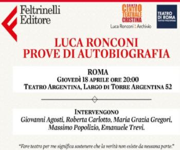 Libri - Luca Ronconi. Prove di Autobiografia