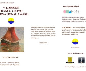 V Edizione del FRANCO CUOMO INTERNATIONAL AWARD