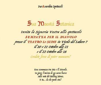 """Un """"diabolico"""" spettacolo scritto e diretto da Ludovica Ottaviani"""