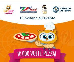 Festival - 10.000 volte pizza a Luneur Guinness World Records