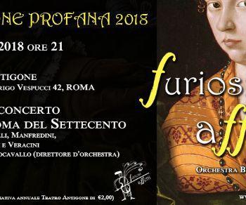 Ultimo appuntamento con la Stagione Profana dei Furiosi Affetti, Orchestra Barocca di Roma