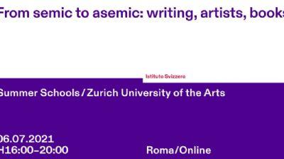 Appuntamenti virtuali: Da semico ad asemico: scrittura, artisti, libri