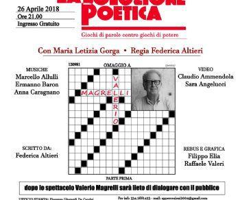 Spettacoli - La soluzione poetica - Giochi di parole contro giochi di potere